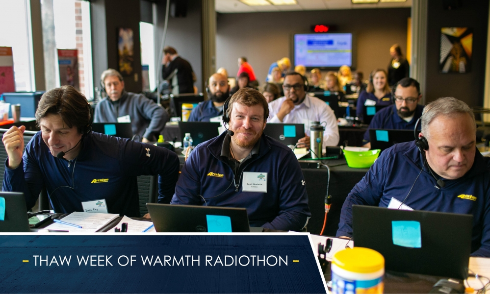 Aristeo partners with DTE Energy to answer phones at THAW (The Heat and Warmth Fund)'s annual telethons and radiothons.
