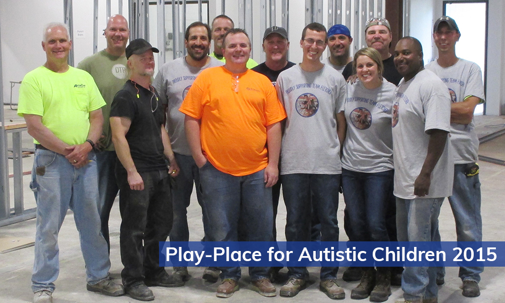 Aristeo has given back to the community by building structures for Play-Place for Autistic Children.