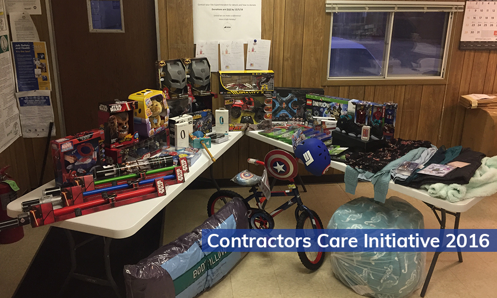 Aristeo hosted a Contractors Care toy drive and gave the donations to a local hospital.