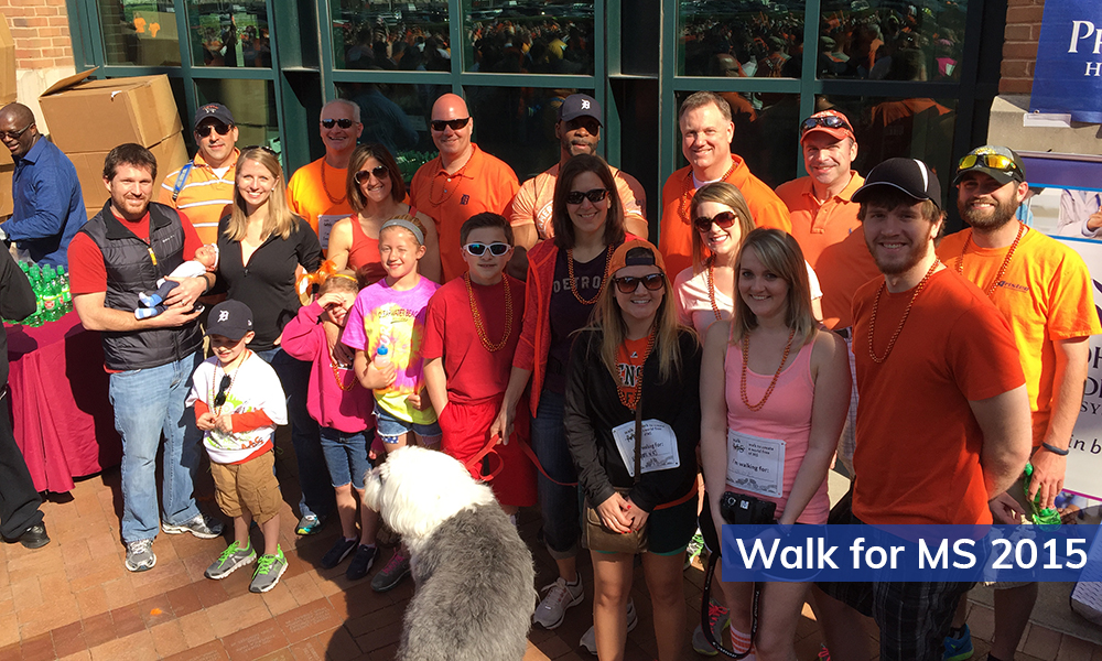 Aristeo volunteers particupated in the Walk for MS walk in 2015.