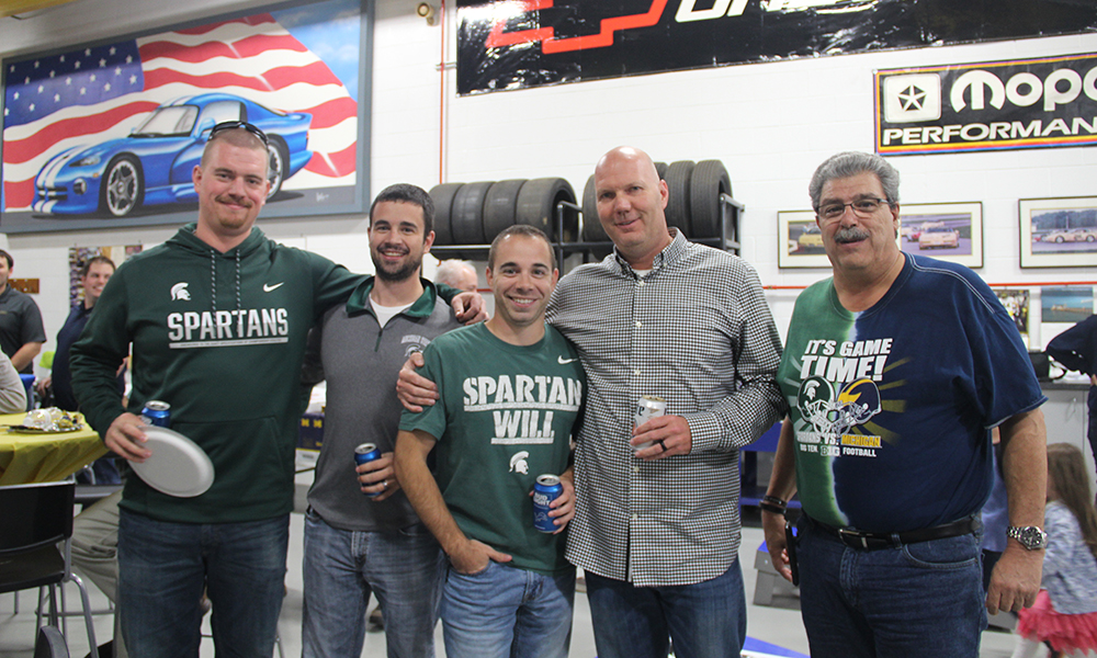 One of the annual events at Aristeo is the fall football party, where the Michigan State University and University of Michigan rivalry is alive and well.
