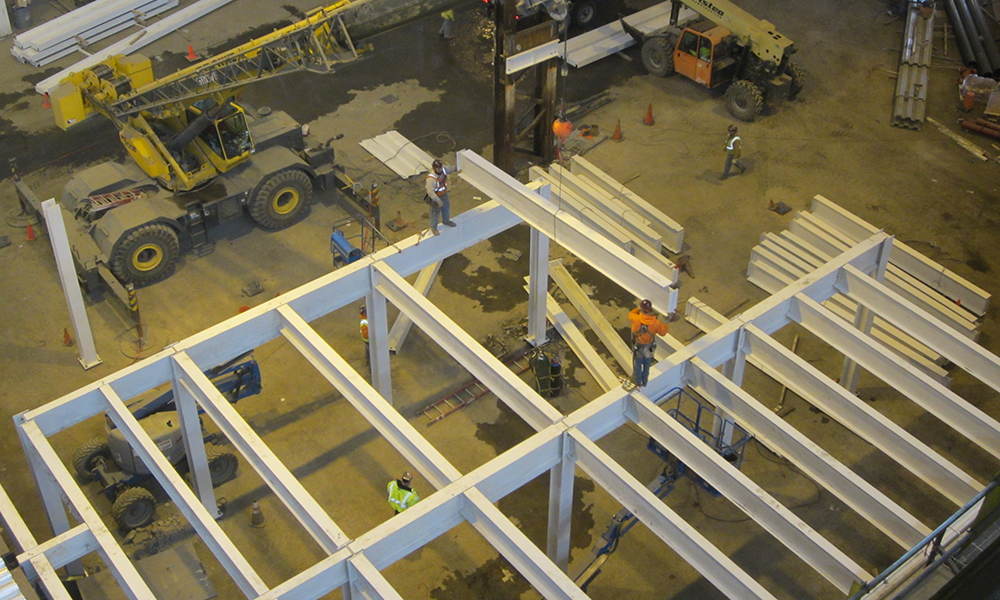 Aristeo Construction fabricates and erects steel with our own workforce to save clients time and money.