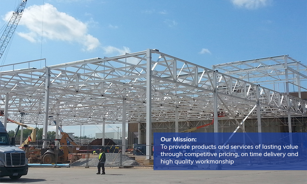 Aristeo's mission is to provide steel fabrication and erection products and services of lasting value through competitive pricing, on time delivery and high quality workmanship.
