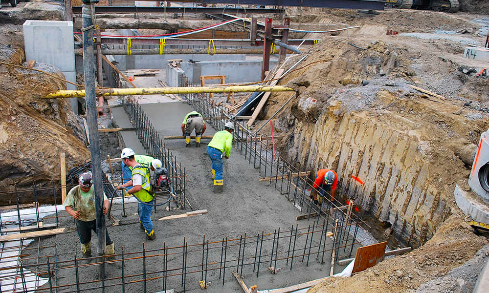 As general contractor, Aristeo built and poured concrete for a tunnel at Oakland University.
