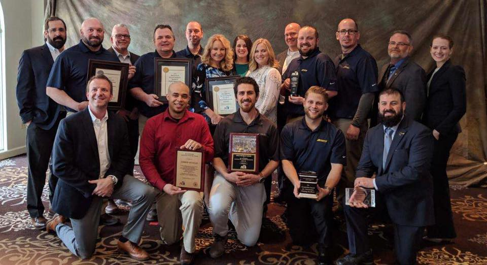 Aristeo Construction won the Build Michigan Award, Cornerstone Award for Workforce Development, and multiple safety awards at the AGC of Michigan Annual Meeting.