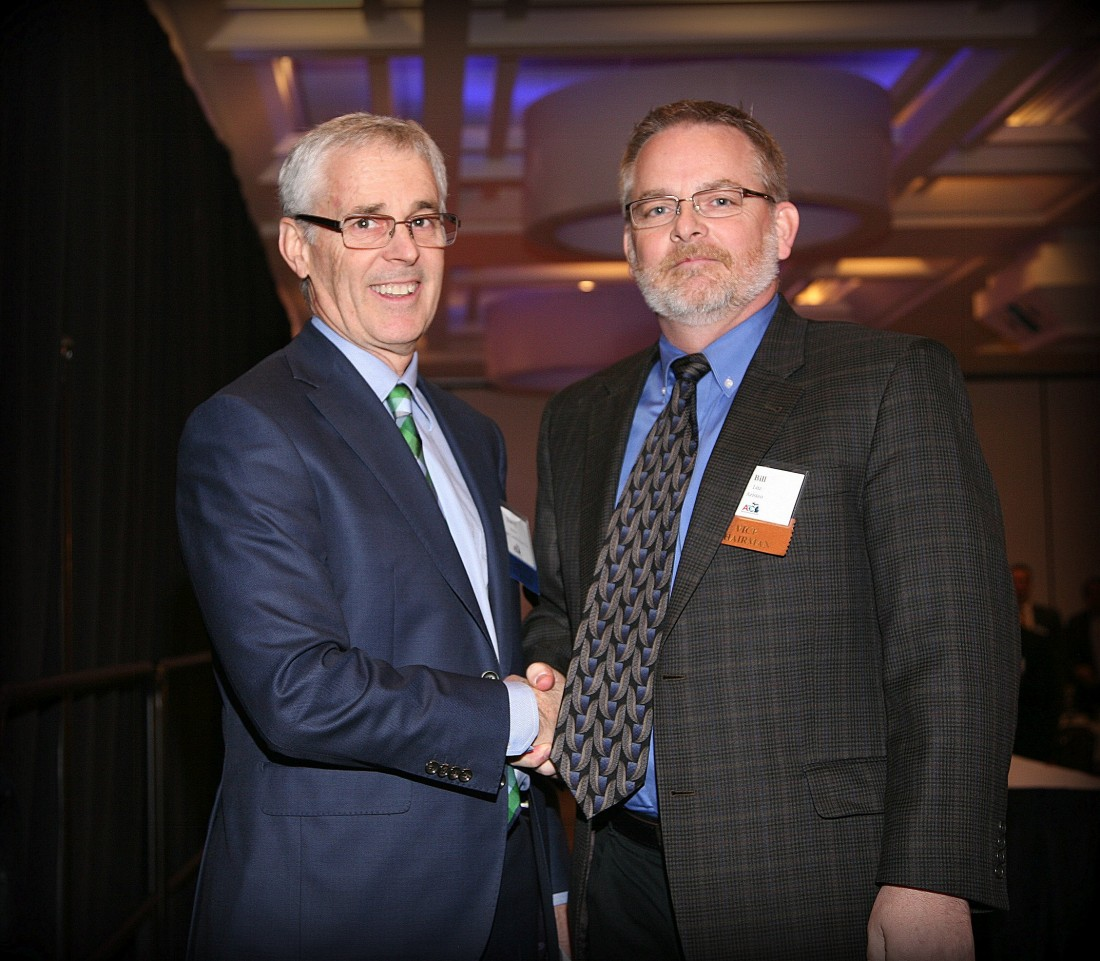 Bill Litz, current Chairman, and Darryl Massa, the previous Chairman of the Board for the AGC of Michigan.