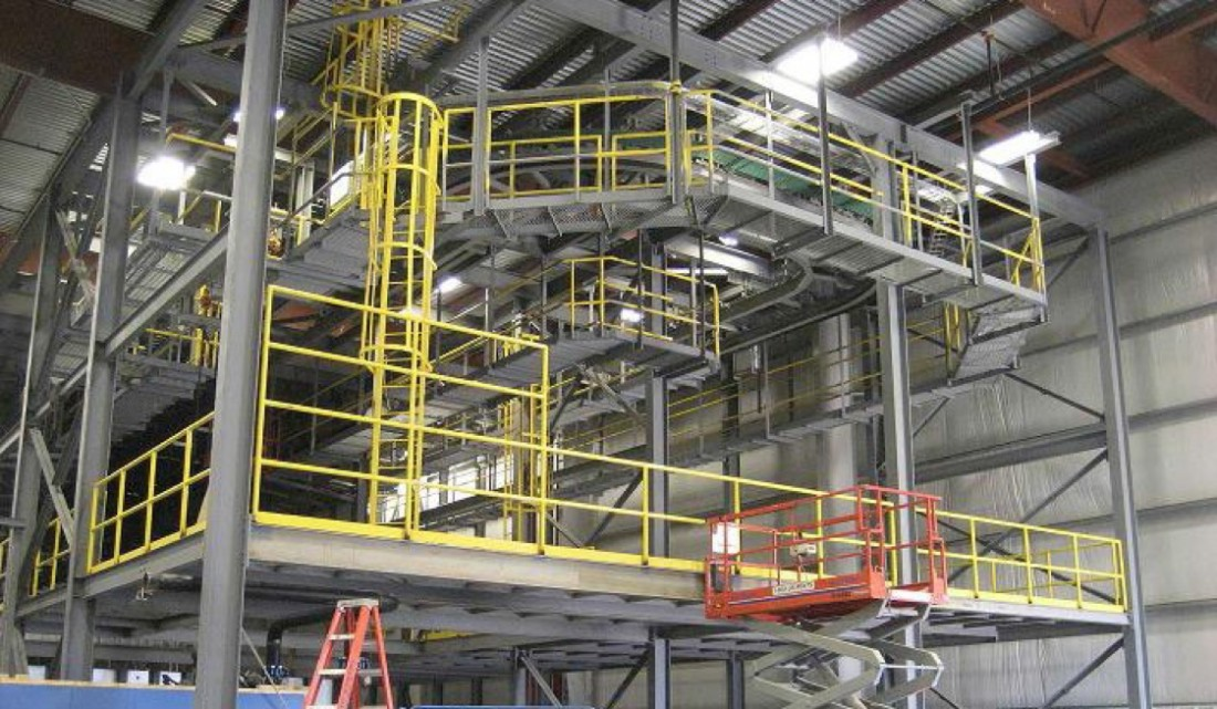 Nissan Canton Vehicle Assembly - Manufacturing - Aristeo Construction  - Nissan_Paint_Shop_Mezzanines