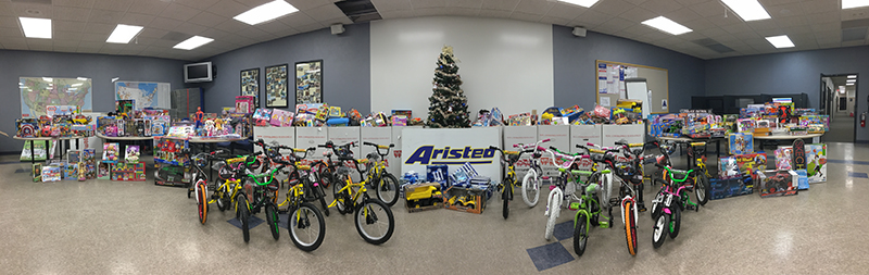 Aristeo Toys for Tots Donations 2017
