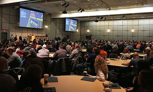 More than 320 Aristeo employees attended our 2018 Safety Kickoff.