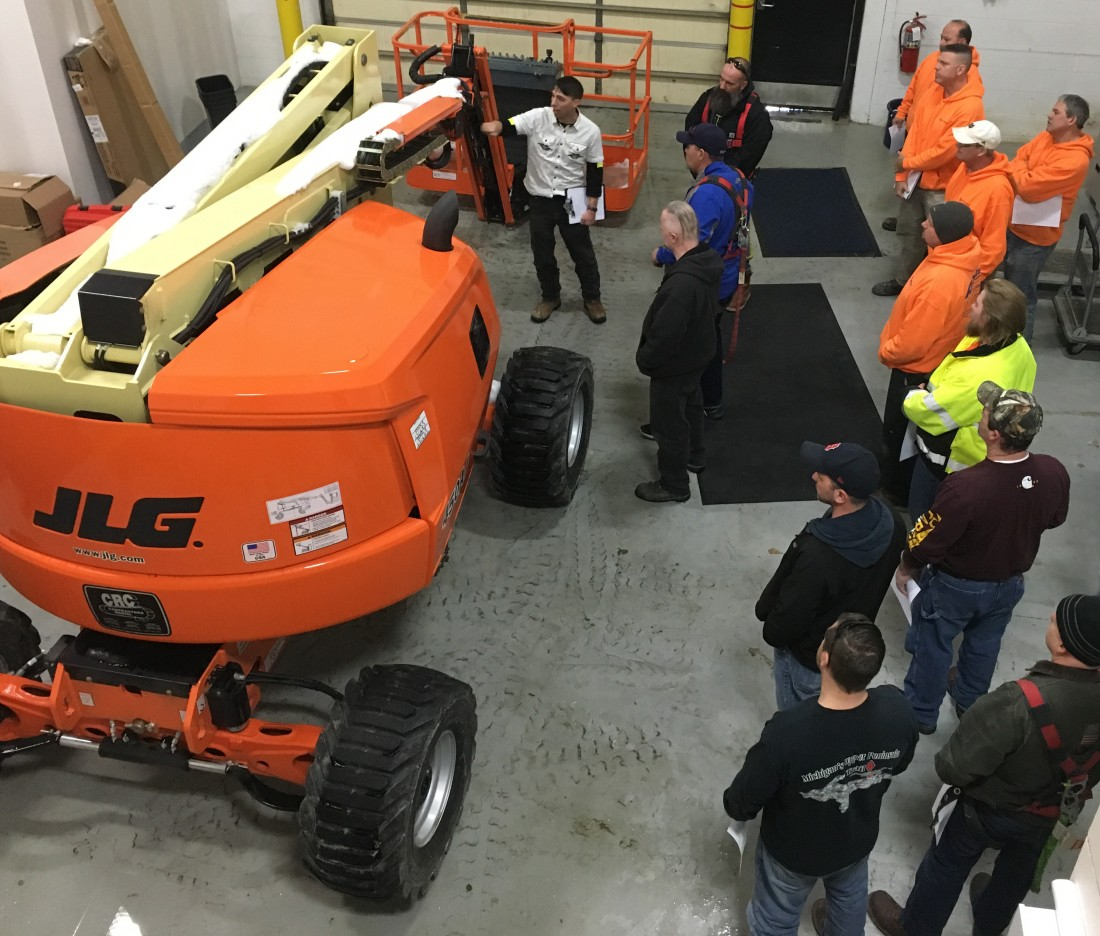 Boom Lift safety is an important part of Aristeo's proactive safety program.