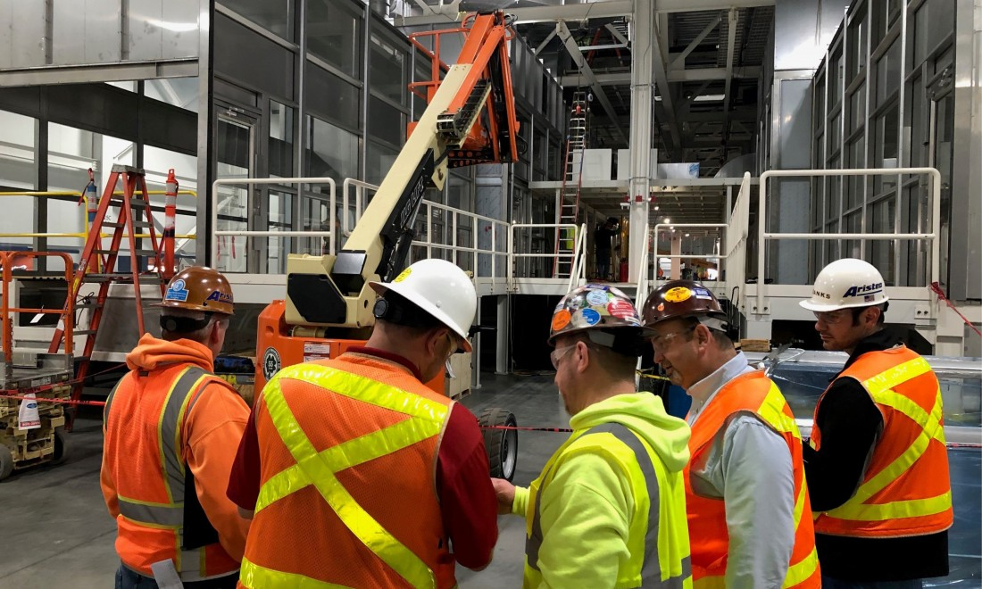Regular safety trainings keep our employees at the top of industry in terms of construction safety.